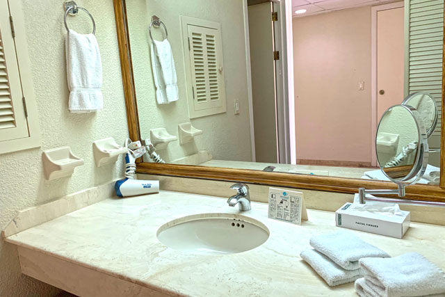 The Royal Sea Aquarium Resort suite bathroom