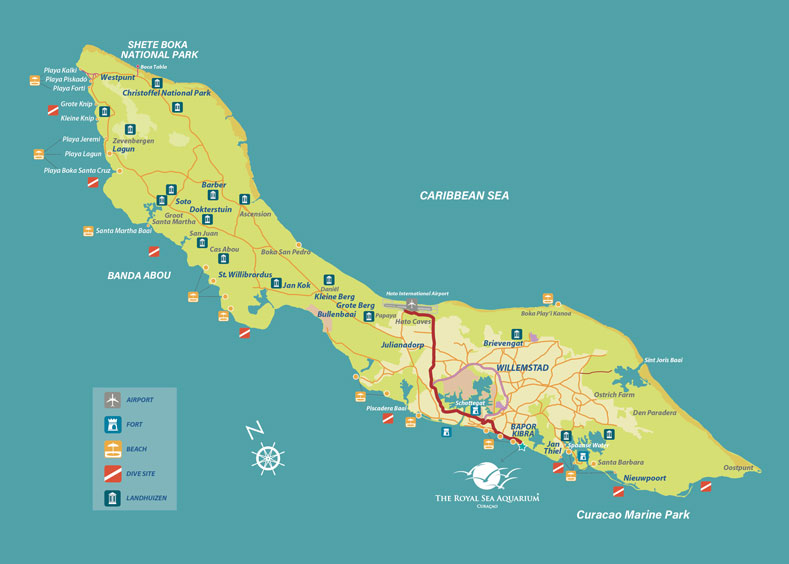 Curacao Island Location Map